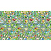 "Happyville Smart Mat by PlaSmart - Multi-purpose Play Mat, 78"" x 46"" Giant Play Surface, Road/Cars Floor Mat , Washable EVA foam, Ages 0 and Up"