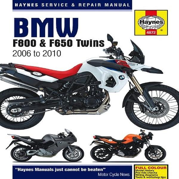BMW F650, F700 & F800 Twins (06-16) Haynes Repair Manual (Haynes Service &  Repair Manual): Mather, Phil: 9781844258727: Amazon.com: Books | Bmw F800gs Motorcycle Wiring Diagram |  | Amazon.com