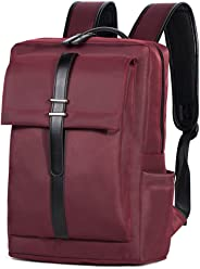 Oflamn Business Laptop Backpack Water Resistant Slim Travel Bag for 14-Inch  Laptop (Red 560edf5ee7d7f
