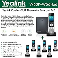 Yealink IP Phone W60P is a bundle of W60B base and W56H handset + (6-UNITS) W56H Handset