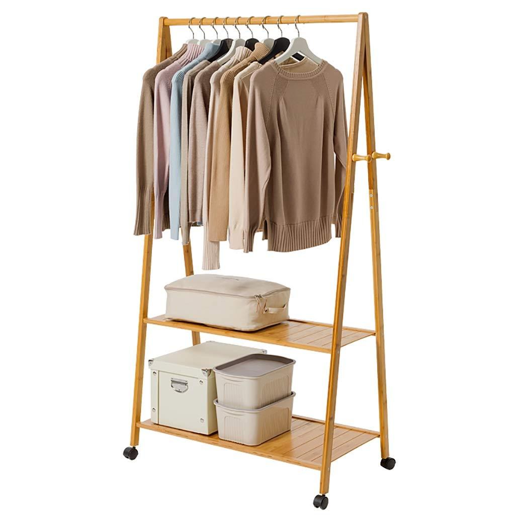 A 6040165cm Coat Stand,Housewares Standing Coat and Hat Rack Bamboo Wooden Creative Storage Shelves Hanger