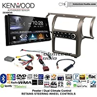 Volunteer Audio Kenwood DDX9904S Double Din Radio Install Kit with Apple CarPlay Android Auto Bluetooth Fits 2003-2004 Infiniti G35 (Pewter) (Dual zone A/C controls)