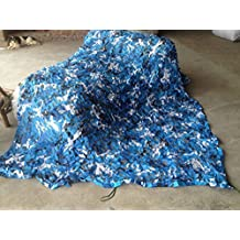 Ocean blue Military woodland camouflage netting hunting camouflage net Outdoor shading net sunshade (79INx79IN)