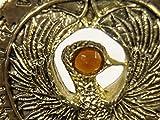 Indiana Jones, Staff of RA Headpiece, Antique Gold, Solid Metal, Amber Jewels