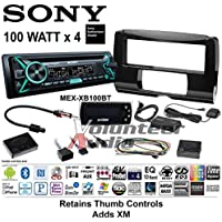 Volunteer Audio Sony MEX-XB100BT Double Din Radio Install Kit with Bluetooth, CD Player, USB/AUX Fits 2014-2016 Electra Glide, Road Glide, Street Glide Includes XM Tuner