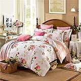 GAW Home Fashion 100% Cotton 4-Piece Duvet Cover Bedding Set, King/California King,Quilt Cover(200*230Cm*1),Sheet(230*250Cm*1),Pillowcase(48*74Cm*2)