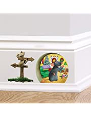 ufengke Cartoon Mouse Hole Skirting Board Wall Stickers Removable Vinyl Wall Art Decals for Children's Room Living Room Bedroom
