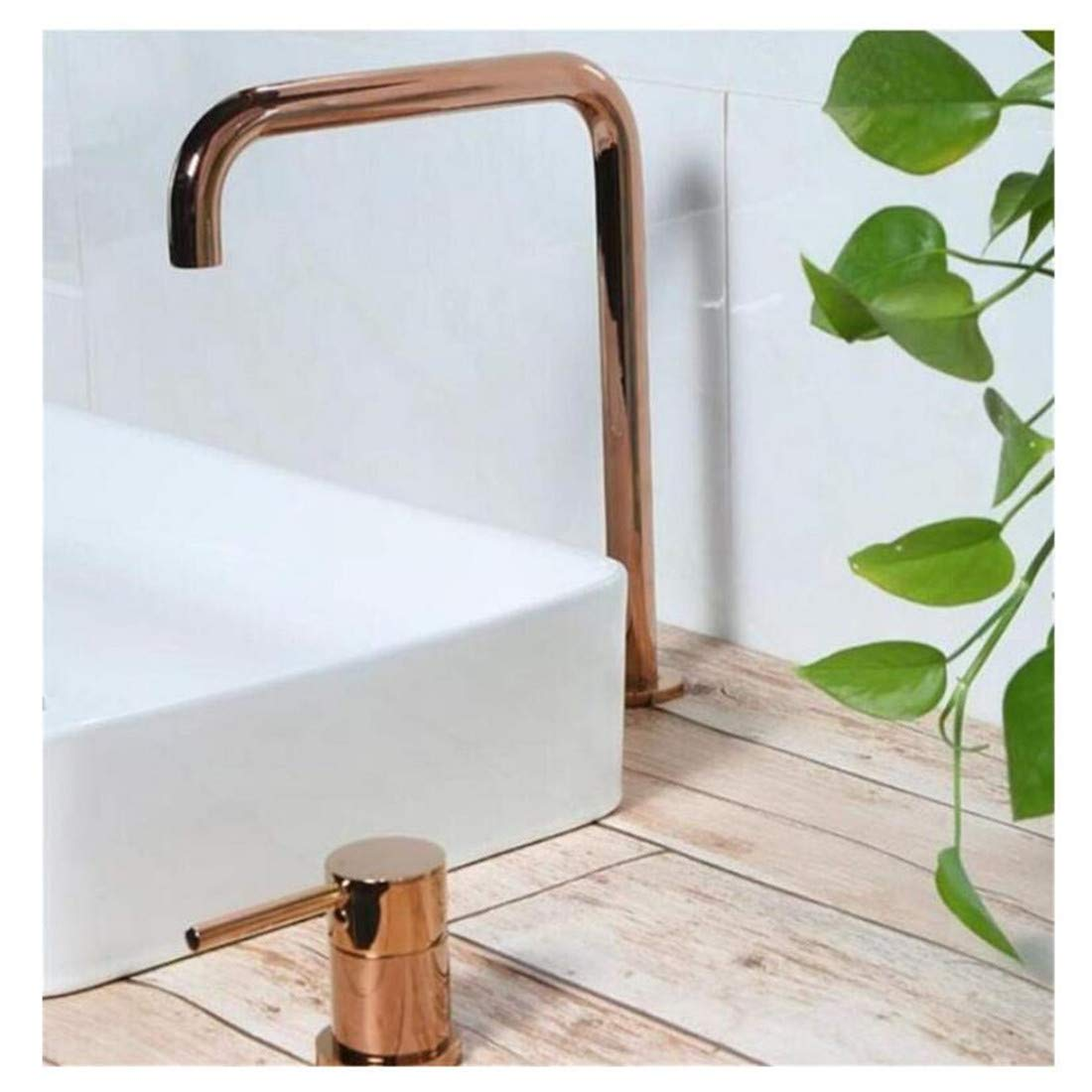 Stainless Steel Vintage Brassbathroom Super Long Pipe Two Holes Basin Faucet Bathroom Faucet Sink Tap 360 redating