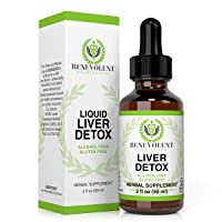 Liver Cleanse – Organic Milk Thistle and Natural Herbal Blend. Potent Liquid Drops for Gallbladder Detox – Great Taste | 2X Absorption | 100% Alcohol and Gluten Free. Large 2oz Bottle.