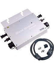 Y&H - Inversor de corbata impermeable de 600 W MPPT DC22-50 V a AC230 V para panel solar de 36 V WGTI-600 W-230 V