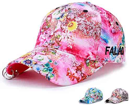 Embroidery Baseball Cap - Floral Print Baseball Caps Adjustable Cotton  Canvas Dad Hat Hats for Women c1b5d27c5aba