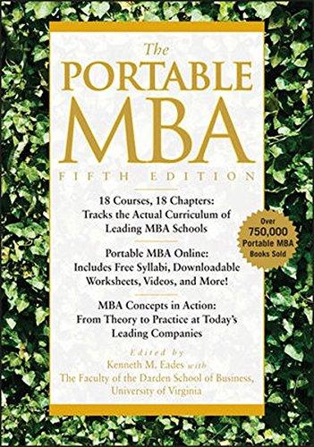 The Portable MBA [Kenneth M. Eades - Timothy M. Laseter - Ian Skurnik - Peter L. Rodriguez - Lynn A. Isabella - Paul J. Simko] (Tapa Dura)