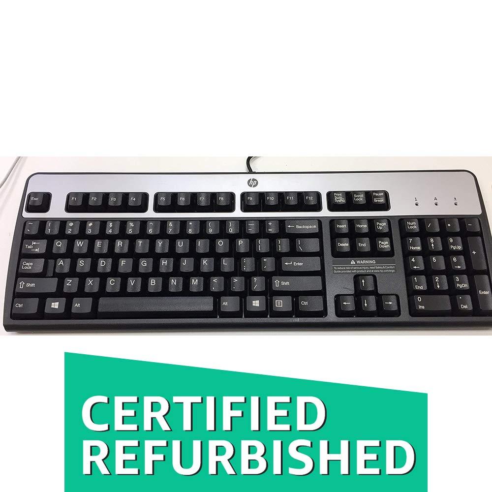 HP 435302-001 KB-0316 104 Key Black Silver PS2 Keyboard