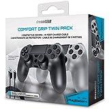 Duplo Comfort Grip Dreamgear para PLAYSTATION 4 DGPS4-6434 Cinza e Branco