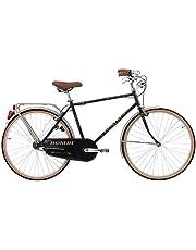 CINZIA Bici Bicicletta Uomo 26' BOMBI MONOVELOCITA' con PORTAPACCO Nero-Oro