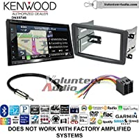 Volunteer Audio Kenwood DNX574S Double Din Radio Install Kit with GPS Navigation Apple CarPlay Android Auto Fits 2001-2004 Mercedes C Series