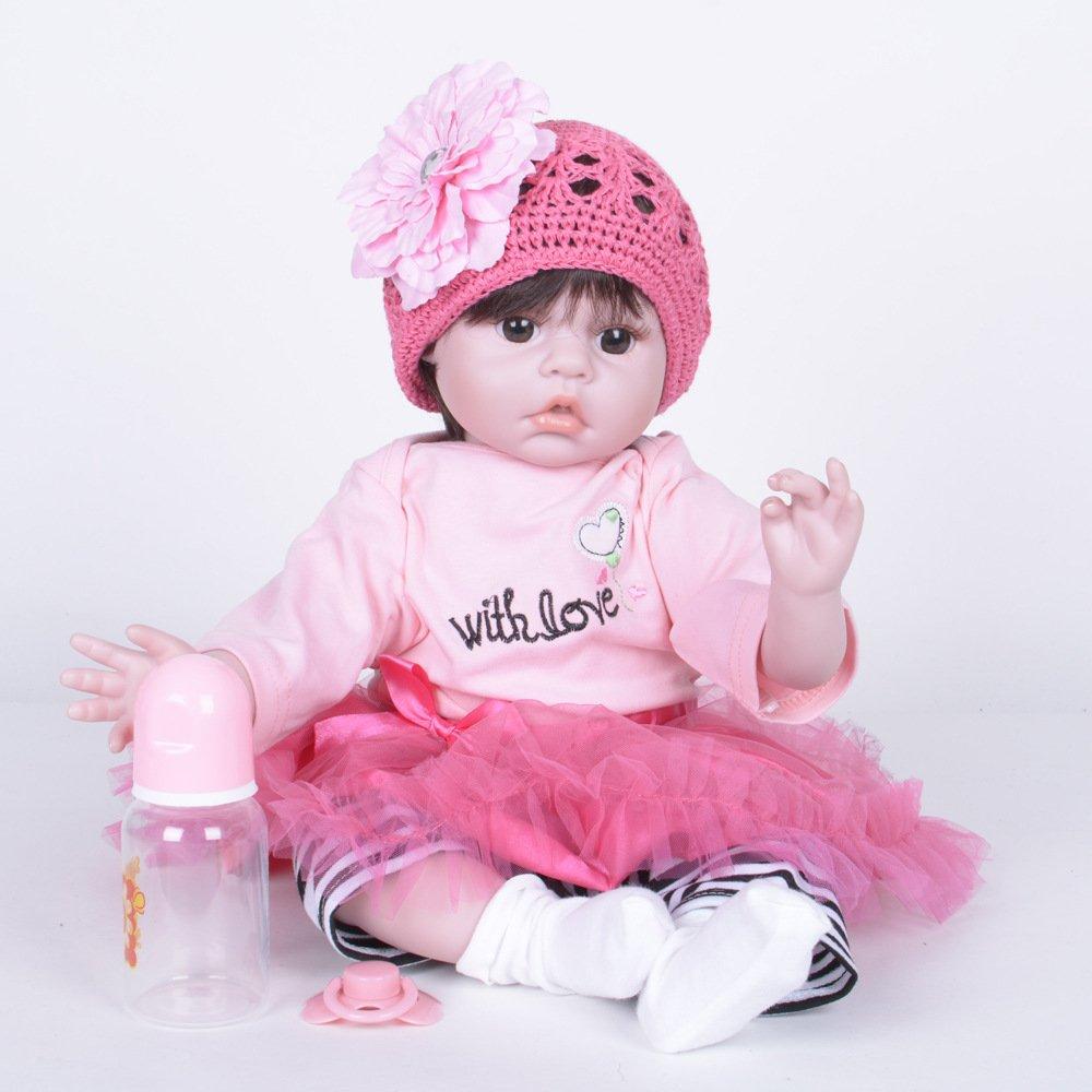 Centro comercial profesional integrado en línea. A JHGFRT Realista Realista Bebé Bebé Bebé Niña Muñeca Masculina Software De Vinilo De Silicona Muñeca Recién Nacido Doble Imán Chupete Regalo De Cumpleaños 55 Cm,A  garantía de crédito