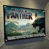 """Black Panther Large Vinyl Indoor or Outdoor Banner Sign Poster Backdrop, party favor decoration, 30"""" x 24"""", 2.5' x 2'"""