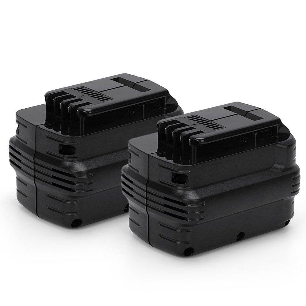 POWERGIANT 2PCS 24V NI-MH Batteria per Dewalt DE0240 DE0241 DE0242 DE0243 DW0240 DW0242 DW004 DW005 DW007 DW017 DC222