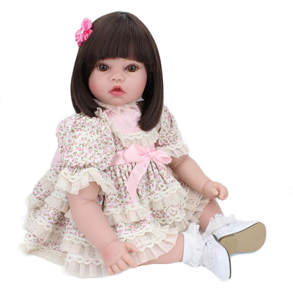estilo clásico WANGXN Lindo Reborn bebé niña muñeca muñeca muñeca 50CM Realista bebés recién Nacidos muñecas Juguete niño  minorista de fitness