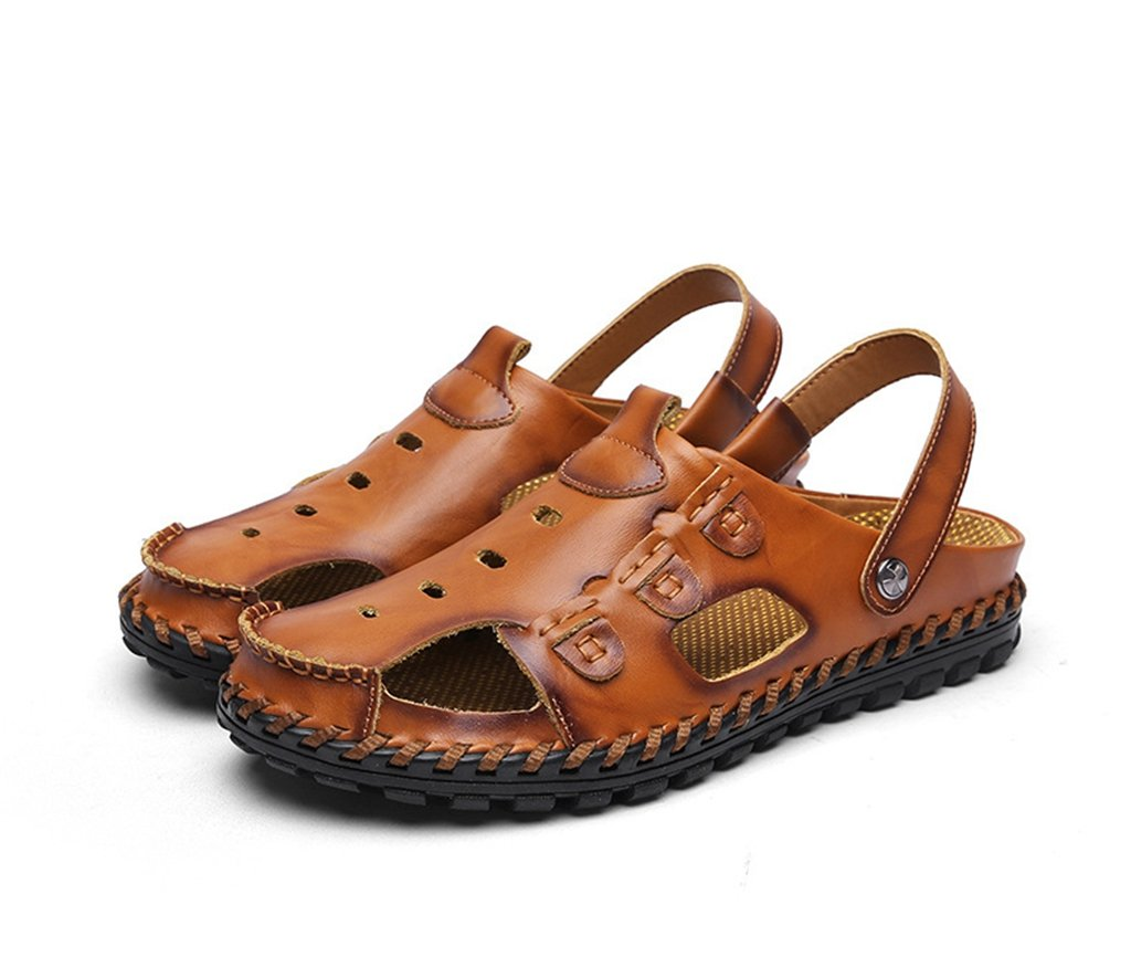 Doris Doris Doris Men' Leather Sandals Beach Shoes Casual Summer Outdoor Sports Slippers B07DR6MY9M Sandals 828df4