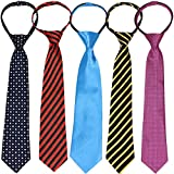 kilofly 5pc Pre-tied Adjustable Zipper Tie Kids Neck Strap Boys Baby Necktie