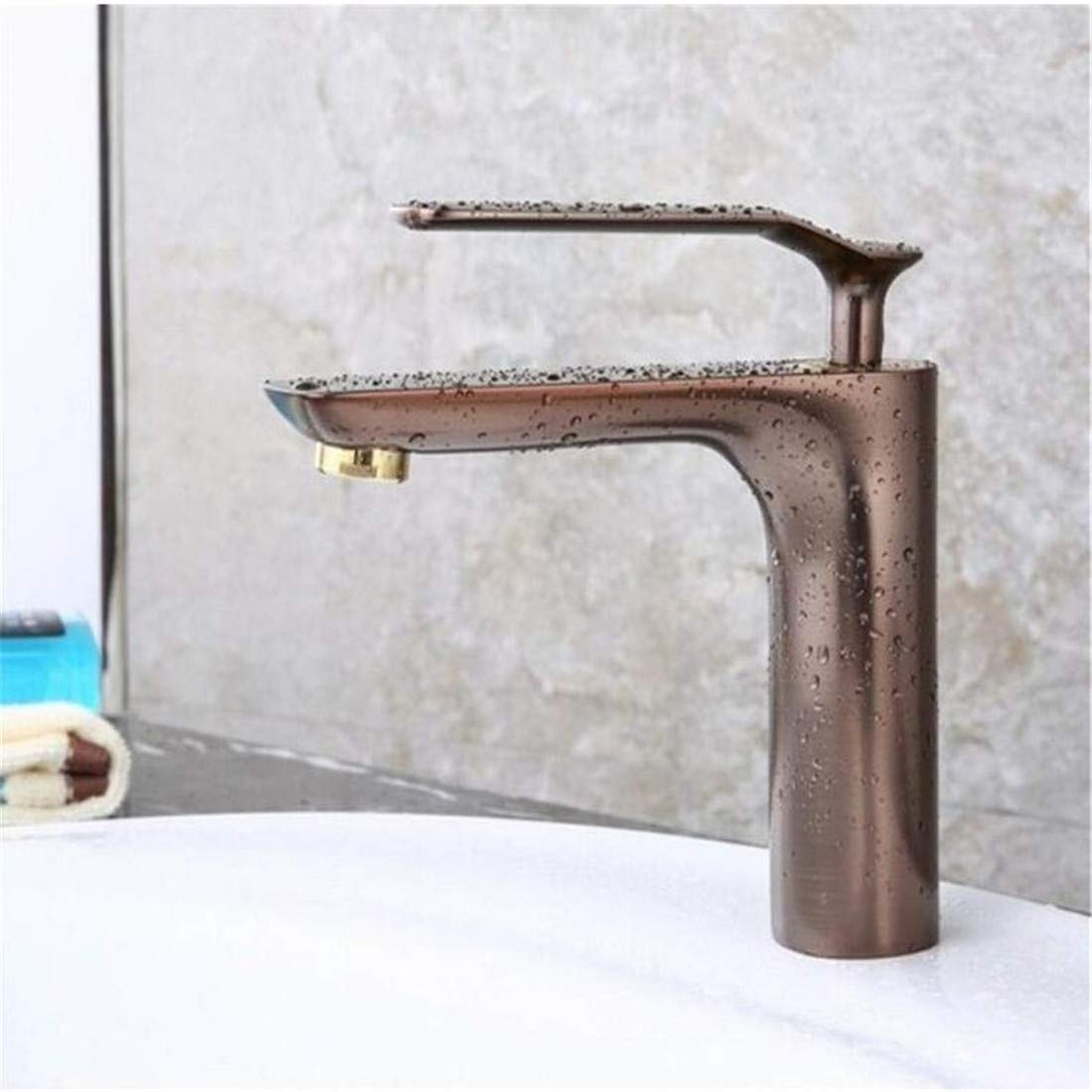 Modern High Quality Vintage Faucetbathroom Faucet Brown Color Color Color Basin Sink Faucet Copper Mixer a1404e