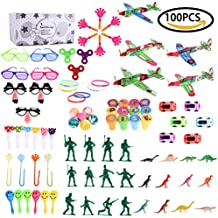Boy's Party Favor Aircraft Toy & Accessory Assortments Play Set Pack for Children's Birthday, Educational School Classroom Rewards, Carnival Prizes, Pinata, Stocking Stuffers, Goodie Bag – 100 Pcs