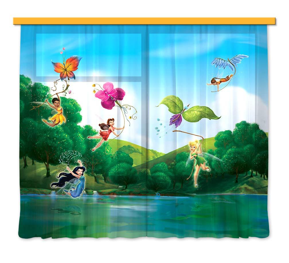 Gardine Vorhang FCS XXL 7005 Disney, Fairies, 280 x 245 cm, 2-teilig