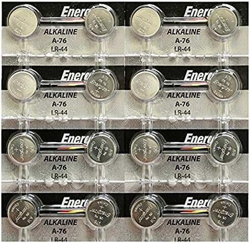 Energizer A76/LR44 (A76BP), SR44, L1154, 1.5v Alkaline Batteries