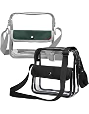 iSPECLE Clear Purse, Clear Stadium Bag Approved for NFL NCAA, Adjustable Strap