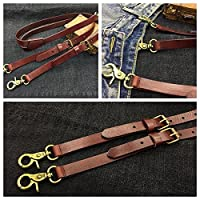 Handmade Leather Suspenders Wedding Suspenders Groomsmen Suspenders