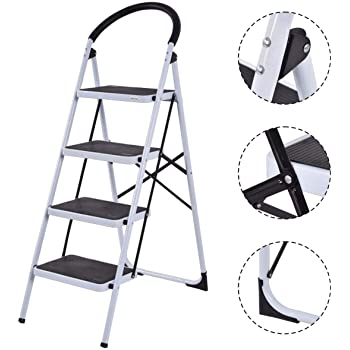 Cosco Three Step Max Steel Work Platform Step Ladder