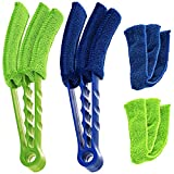 Microfiber Blind Duster, SENHAI Set of 2 Cleaner Brush for Window Shutters Vent Air Conditioner, Dust Collector Cleaning Cloth Tool