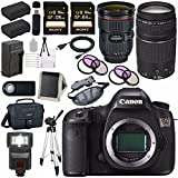 Canon EOS 5DS 5D S DSLR Camera + EF 24-70mm f/2.8L II USM Lens + Canon EF 75-300mm f/4-5.6 III Telephoto Zoom Lens + LPE-6 Lithium Ion Battery + Canon 100ES EOS shoulder bag Bundle 13