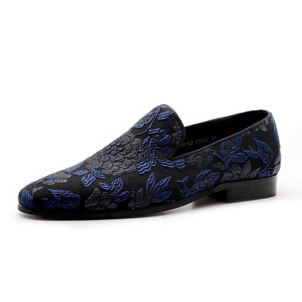 LYZGF Männer Gentleman Business Casual Fashion Stickerei Faul Fahren Männer Schuhe