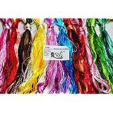 2500 Silk Art China Natural 100% Mulberry Silk Floss Handmade Embroidery Woven Jewelry Threads DIY Kits 50 Colors 336 feet SIX001