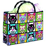 Tobin Cat Tote Bag Plastic Canvas Kit, 12 by 13 by 9-Inch