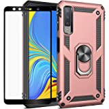 Strug for Samsung Galaxy A7 2018 /A750 Case,Heavy Duty Shockproof Protection Built-in 360 Rotatable Ring Magnetic Car Mount C