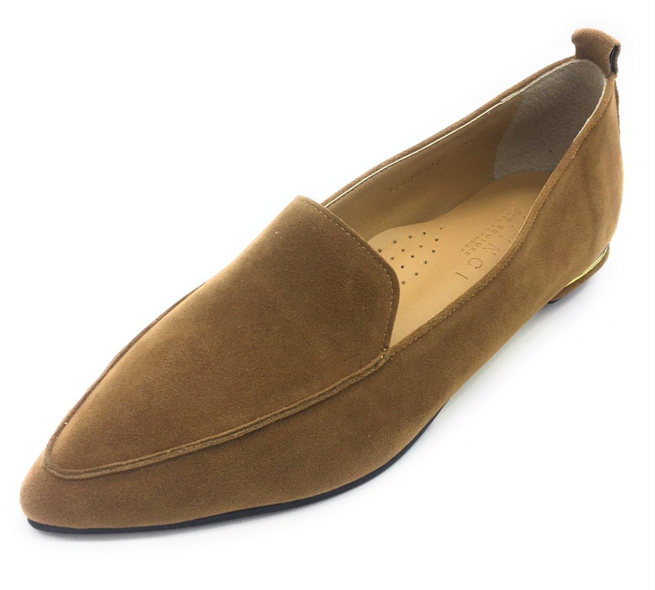 Davinci Women's Suede Loafter Heel B0772RP24W 8.5 B(M) US|Beige