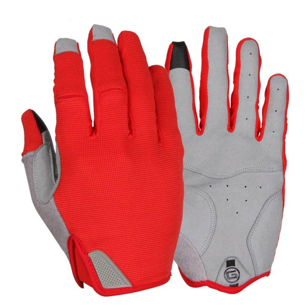 QIXING Fahrrad Mountainbike Outdoor Sport Lange Finger voller Finger Touchscreen Handschuhe Winddichte Wärme Männer und Frauen Herbst und Winter Reithandschuhe