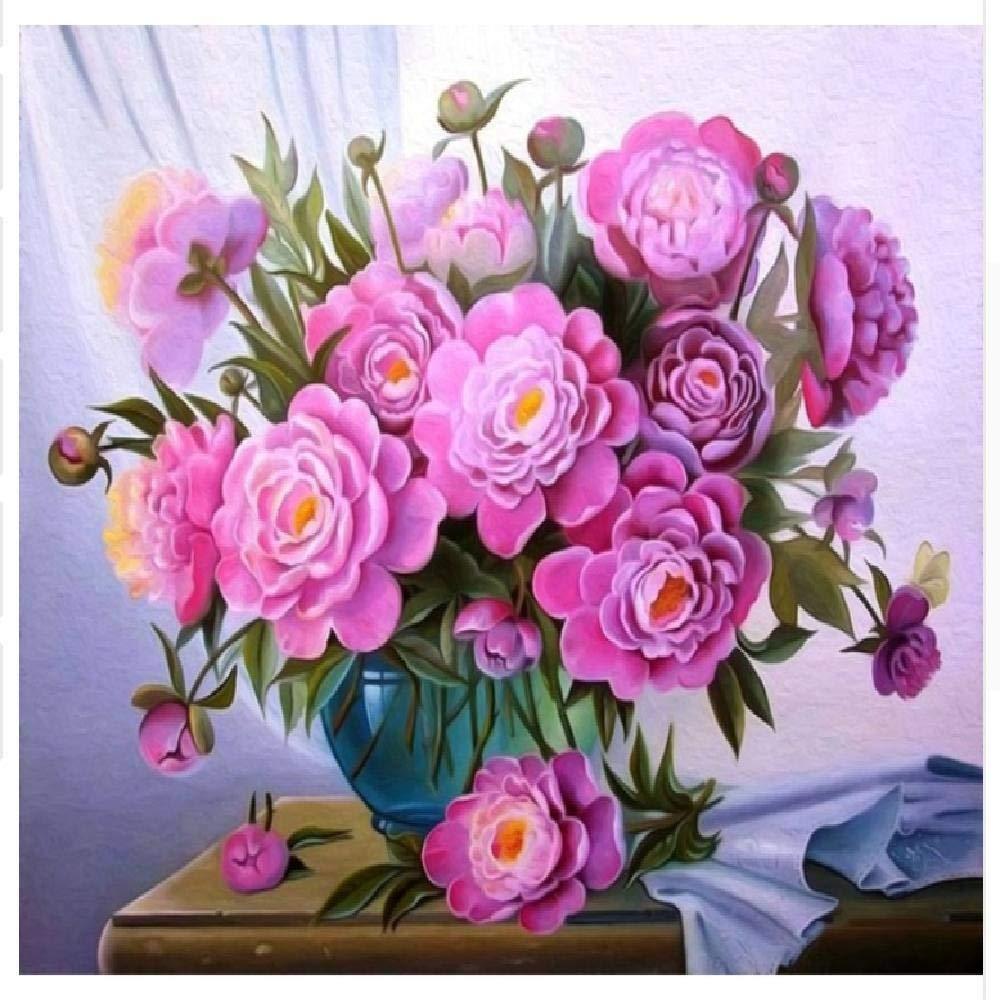 40x50cm  Peintures Par Numéros Abstrait Fleur Rose Abstraite 100X180Cm Bricolage Peinture à L'Huile Linen Toile Pour Adultes Les Enfants Débutants Des Gamins' Jouet Numéros Peinture Par Décoration Murale