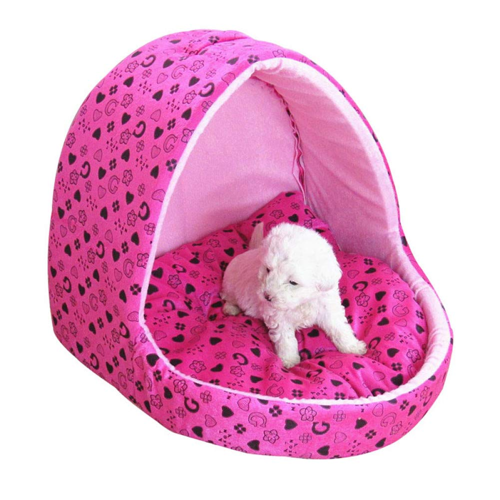 CZHCFF Cute pink princess dog bed small house dog windproof slippers design cat bed
