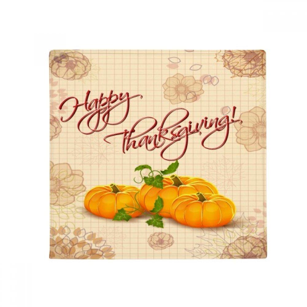 DIYthinker Pumkin Happy Thanksgiving Day Pattern Anti-Slip Floor Pet Mat Square Home Kitchen Door 80Cm Gift