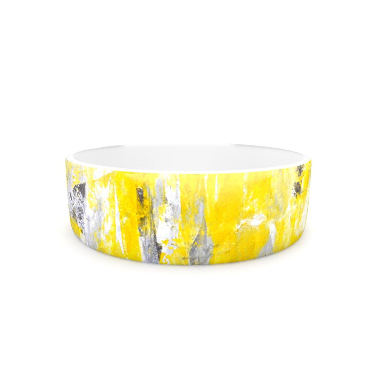 Kess InHouse CarolLynn Tice Picking Around  Pet Bowl, 7-Inch, Yellow