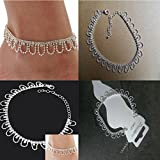 Sumanee Ideal Crystal Rhinestone Charms Drop Ankle Chain Bracelet Anklet Wedding Jewelry
