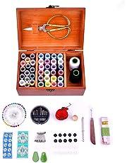 AITOCO Kits de Costura con Cesta y Caja de Madera, Suministros para Coser a Mano