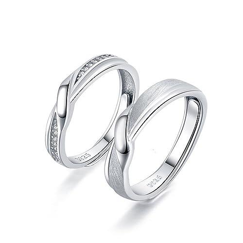 coppia di anelli in argento