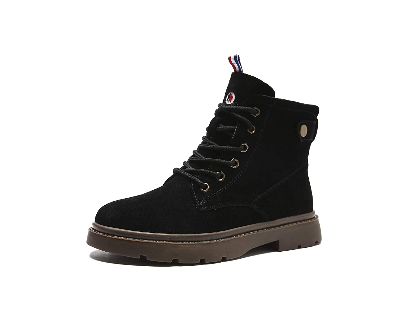 Phy schuhe Kurze weibliche Stiefel aus Leder und Leder Leder Leder im Herbst und Winter, Schwarze Baumwolle, 38 fea2e0