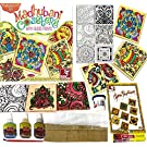 Madhubani Table Coaster Mat Glass Art Painting Craft Kit Hobby Craft Gift Set Birthday Christmas Present